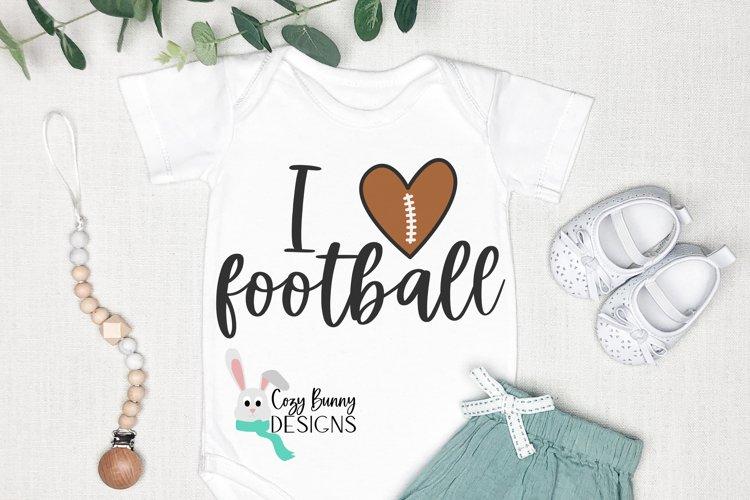 I Love Football SVG example image 1