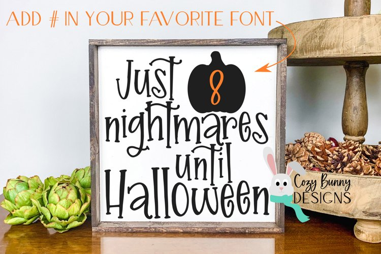 Halloween Countdown SVG with Pumpkin example image 1