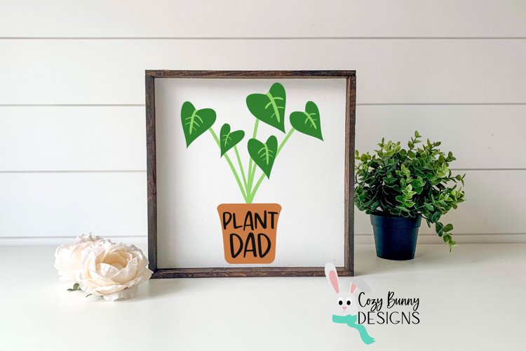 Plant Dad SVG - Father's Day SVG - Monstera Clipart example image 1