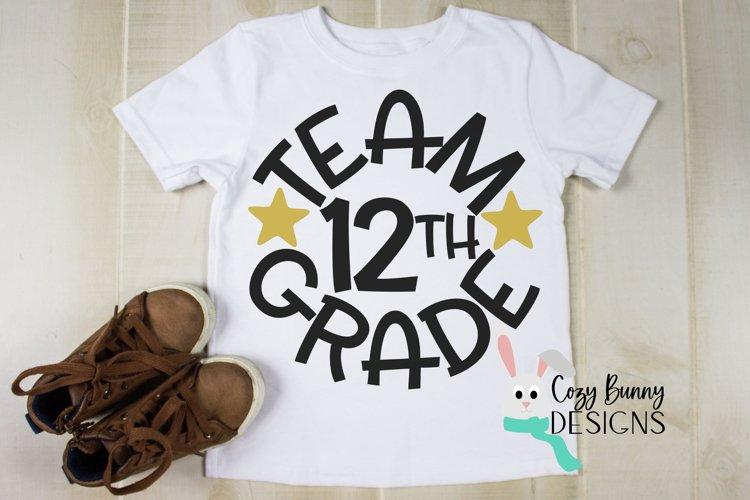 Team 12th Grade - School SVG example image 1
