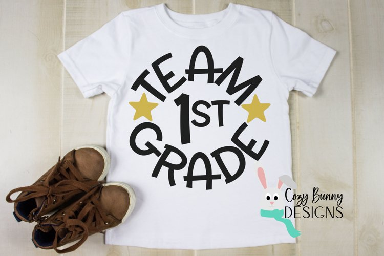 Team 1st Grade - School SVG example image 1