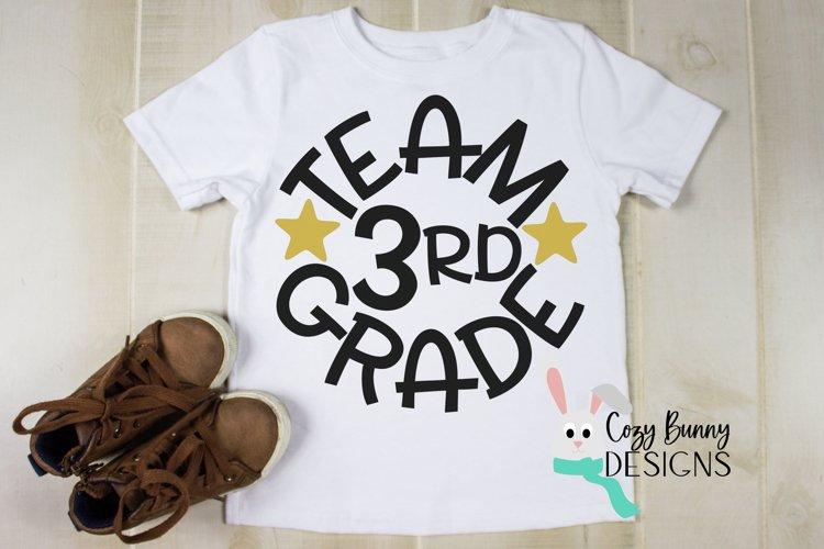 Team 3rd Grade - School SVG example image 1