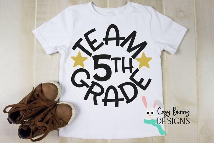 Team 5th Grade - School SVG example image 1