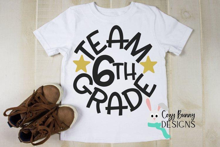Team 6th Grade - School SVG example image 1