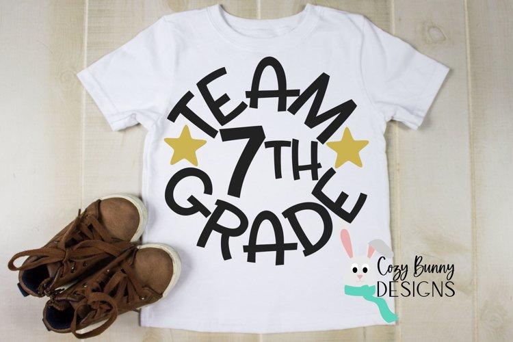 Team 7th Grade - School SVG example image 1