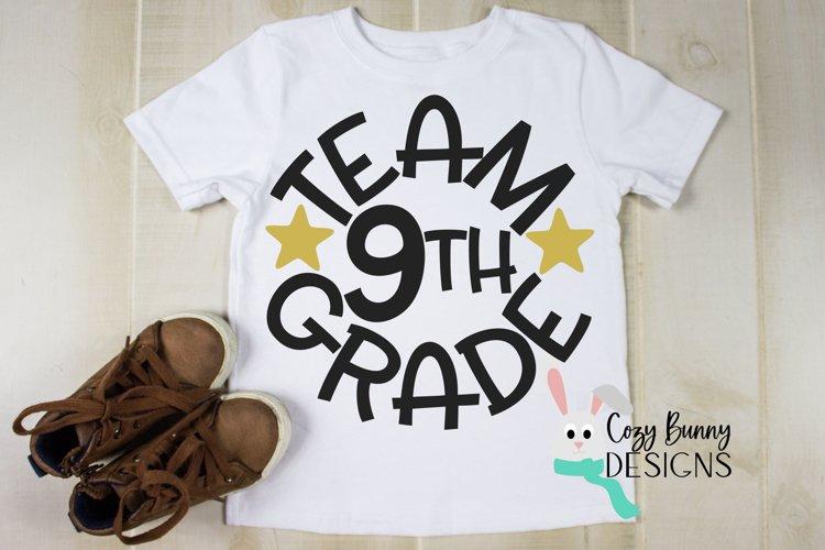 Team 9th Grade - School SVG example image 1
