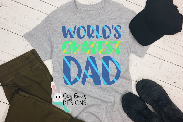 World's Okayest Dad SVG - Funny Father's Day SVG example image 1