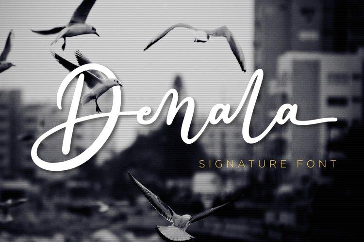 Denala - Signature Font example image 1