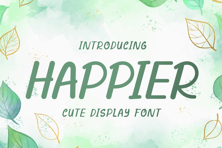 Happier - Cute Display Font example image 1