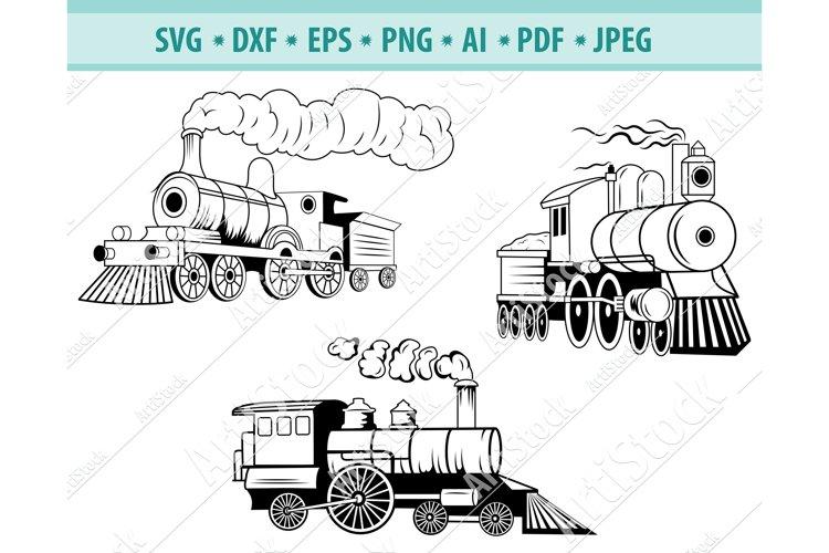 Train Svg File, Steam engine Svg, Locomotive Png, Dxf, Eps