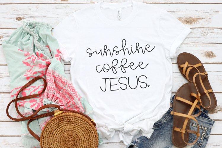 Sunshine Coffee Jesus SVG example image 1