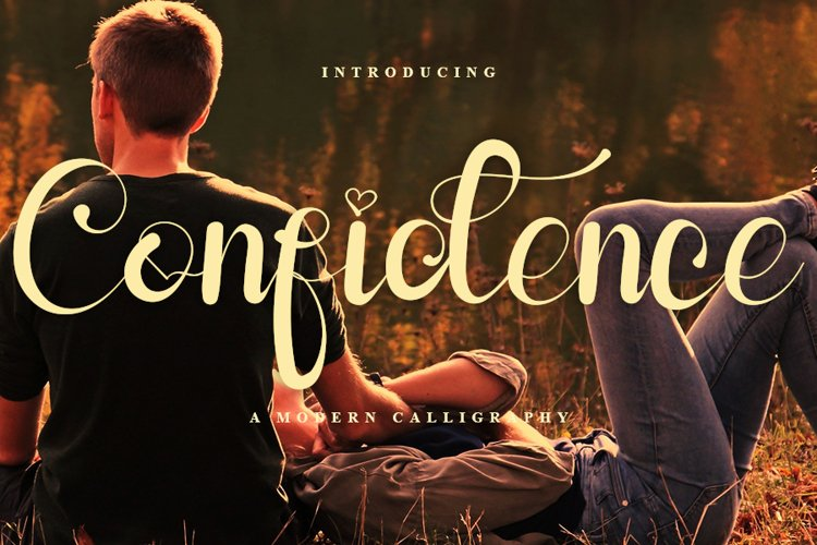 Confidence - Beauty Calligraphy Font example image 1