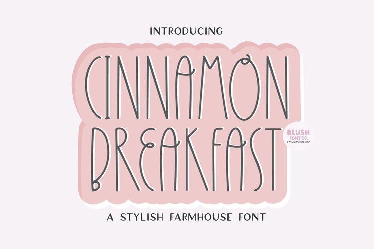 CINNAMON BREAKFAST a Decorative Farmhouse Font example image 1