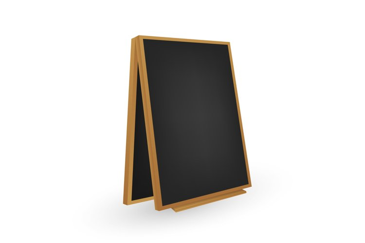 Menu Black Board. Different View. Vector stock illustration example image 1