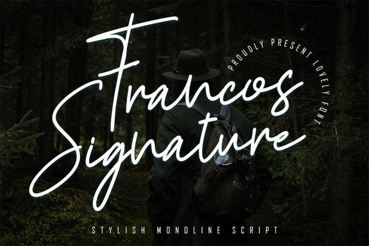 Francos Signature - Stylish Monoline Font example image 1