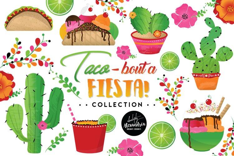 Taco Bout A Fiesta Clipart Graphics & Digital Paper Patterns Bundle
