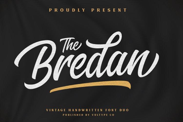 Bredan - Modern Vintage Script Font example image 1