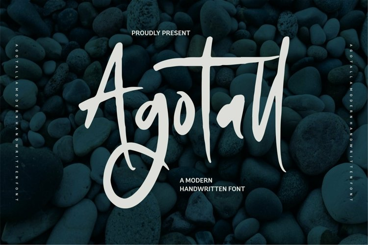 Web Font Agotal - A Modern Handwritten Font example image 1