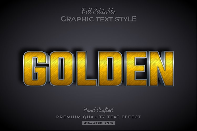 Rusty Gold Embossed Text Style Effect example image 1