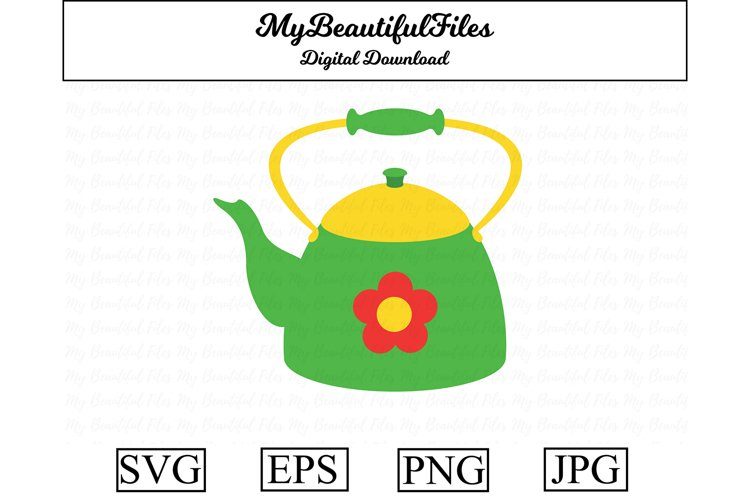 kettle SVG - Cute cooking SVG, EPS, PNG and JPG example image 1