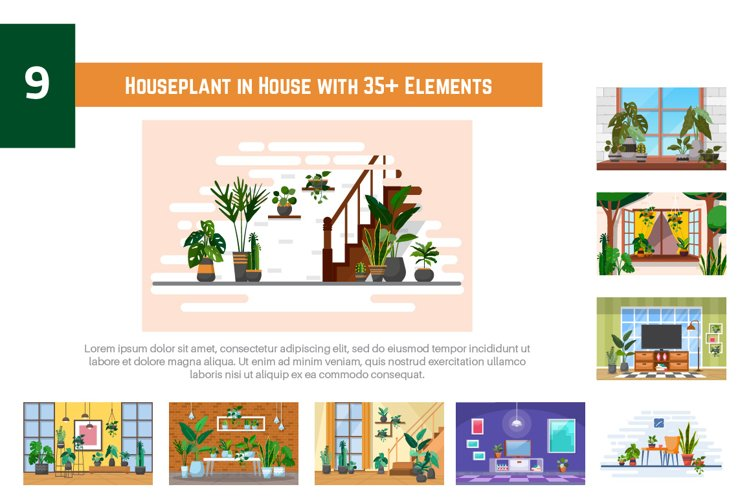 9 Houseplant in House with 35 Elements