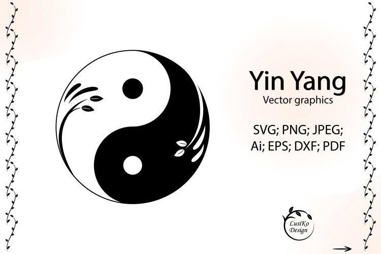Yin yang svg symbol. Ying yang art logo example image 1