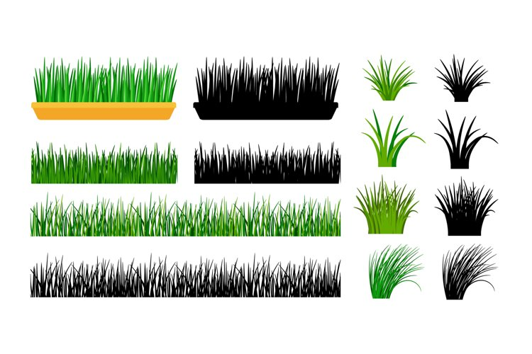 Green grass gardening elements example image 1