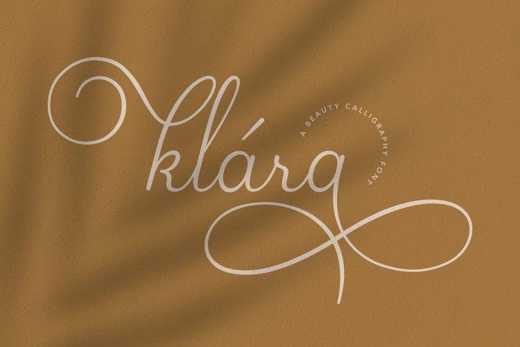 Klara   Beauty Calligraphy Font