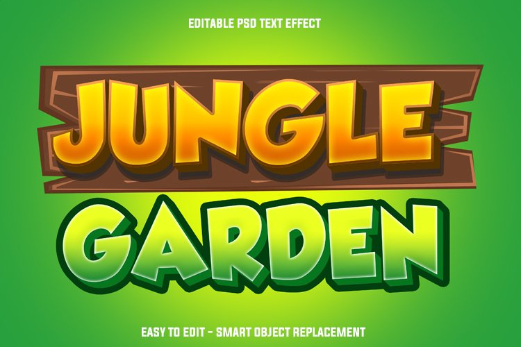jungle garden text effect