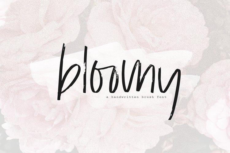 Bloomy - A Handwritten Brush Font example image 1