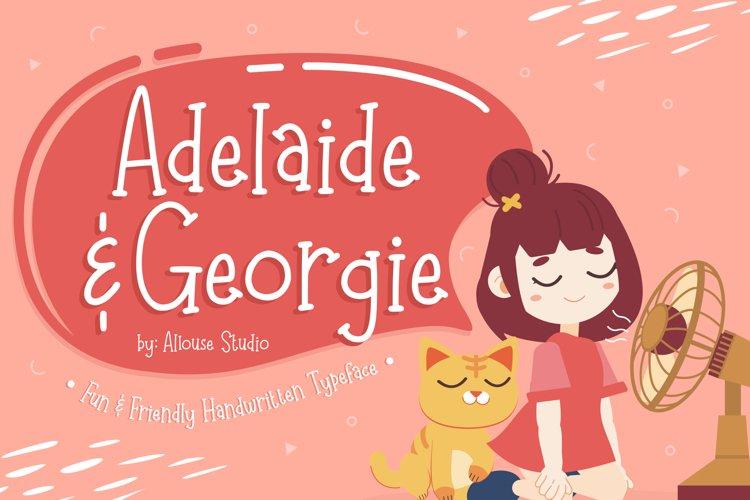 Web Font - Adelaide & Georgie - Friendly Handwriten Typeface example image 1