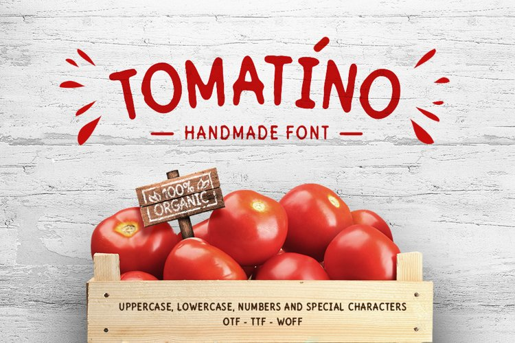 Tomatino. Handmade Font