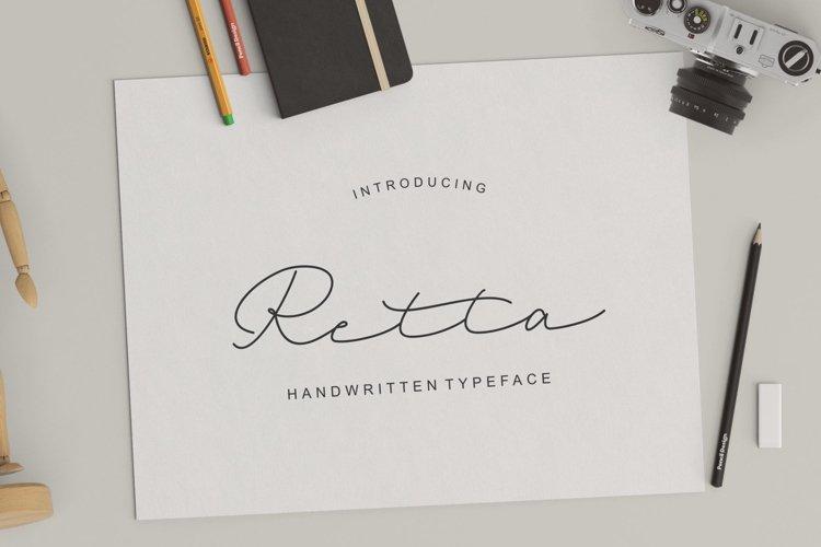 Retta Handwritten Typeface example image 1