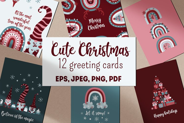 Cute Christmas greeting cards example image 1