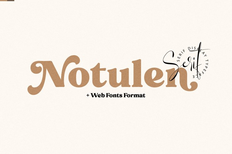 Notulen Serif Extra Bold - Web Fonts Include! example image 1