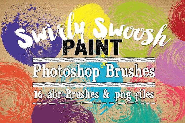 Swirly Swoosh Paint Photoshop Brushes example image 1