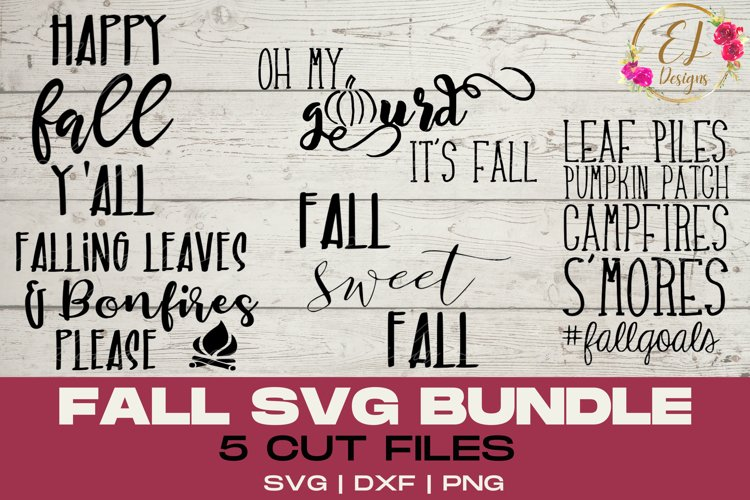 Fall Design Bundle | Fall SVG collection | DIY Fall Decor example image 1
