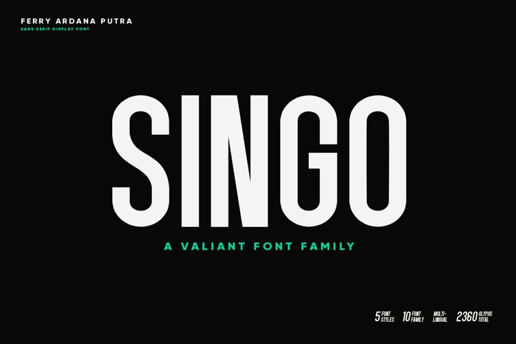 Singo | Sans Display Font example image 1