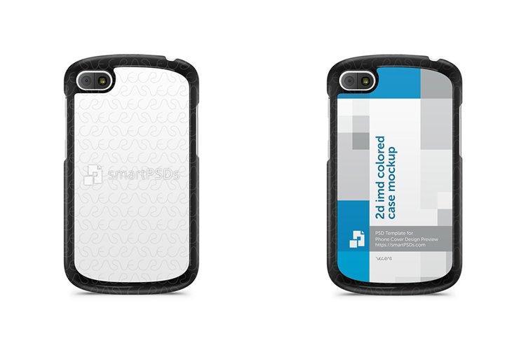 BlackBerry Q10 2d IMD Colored Mobile Case Design Mockup 2013 example image 1