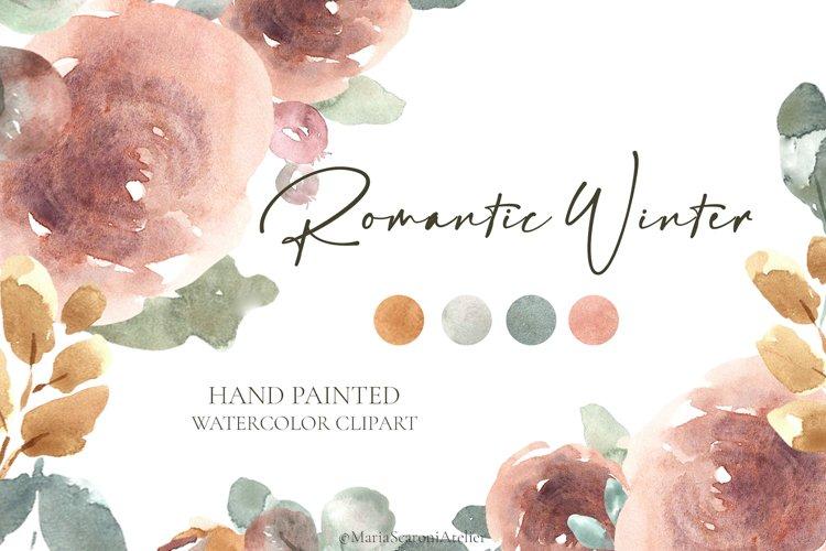 Romantic Winter - Watercolor Flowers