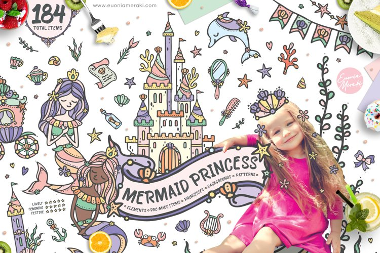 Mermaid Princess - Cute Summer Girl Clipart