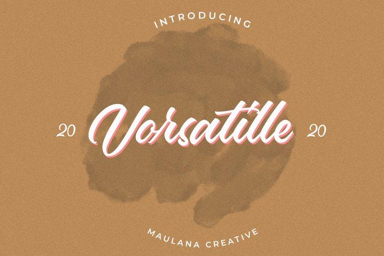 Vorsatille Modern Script Font example image 1