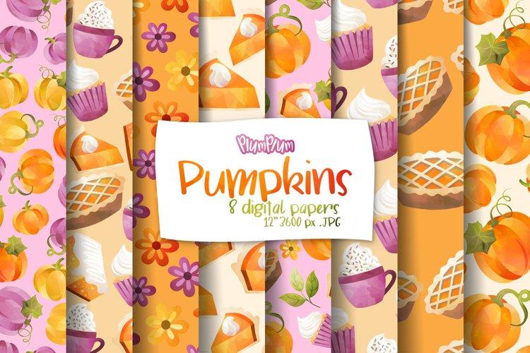 Pumpkin Digital Papers example image 1