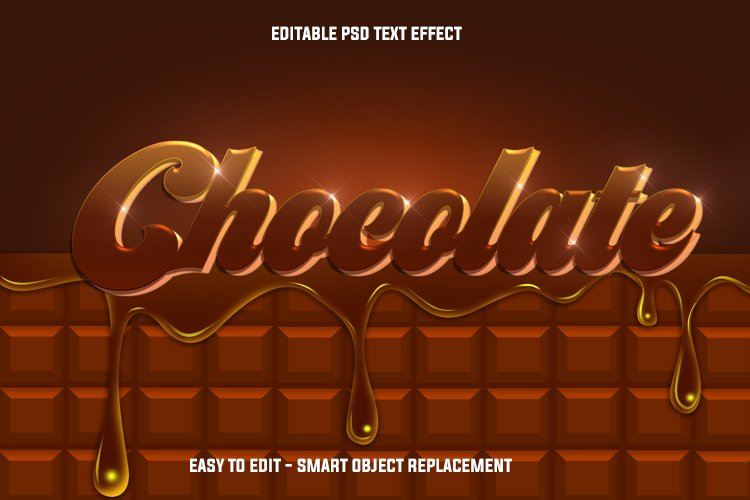 melted chocolate text effect example image 1