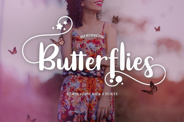 Web Font Butterflies example image 1
