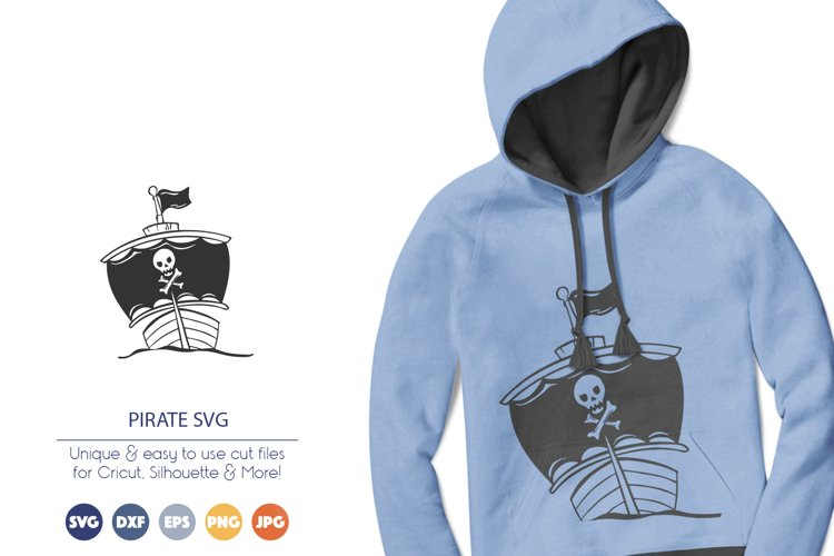 Ship SVG | Pirate SVG | Pirate Ship example image 1