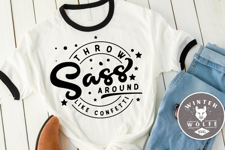 Throw sass around like confetti SVG DXF PNG EPS example image 1