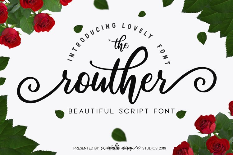 routher - beautiful script font example image 1