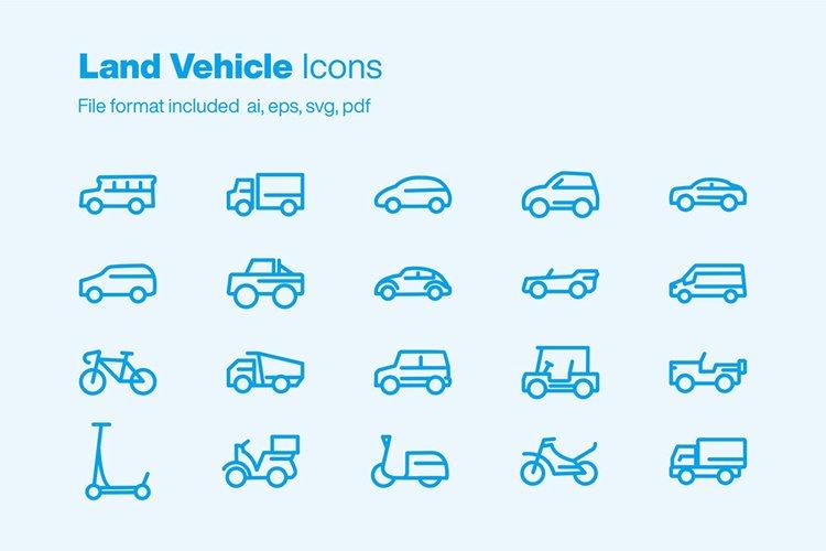 Land Vehicle 20 Icons example image 1