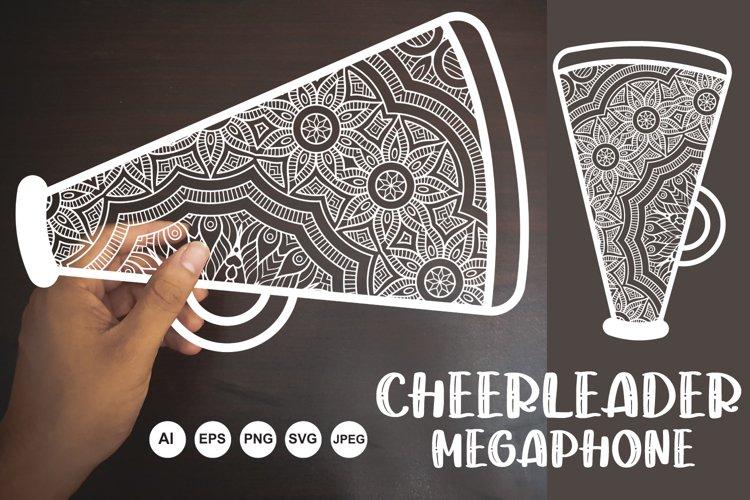 Decorative Mandala Cheerleader Megaphone SVG